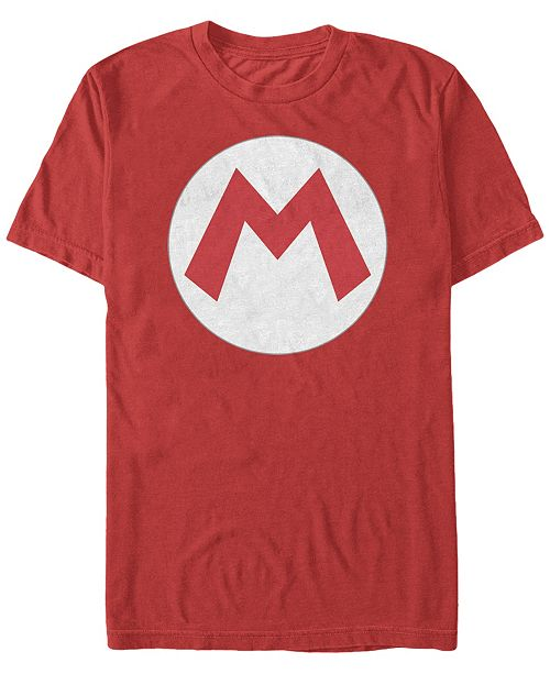 Fifth Sun Nintendo Men's Super Mario Big M Logo Costume Short Sleeve T-Shirt