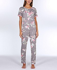 Patricia Printed Knit Pajama Set