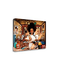 """The Barbers Shop by Adam Perez Fine Art Giclee Print on Gallery Wrap Canvas, 47"""" x 32"""""""