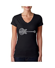 Women's Word Art V-Neck T-Shirt - Blues Legends