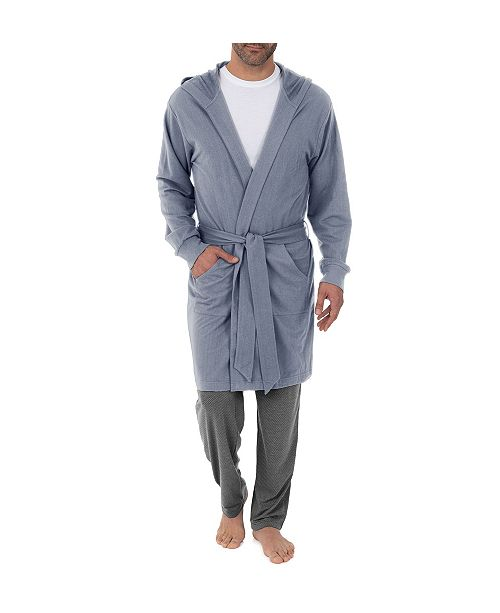 IZOD Men's Hooded French Terry Knit Robe