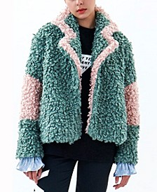 2-Toned Sherpa Coat
