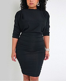 Bodycon Mini Dress with Shoulder Pads by The Workshop at Macy's