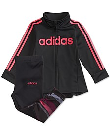 Baby Girls 2-Pc. Tunic Track Jacket & Leggings Set