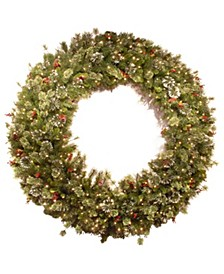 """60"""" Wintry Pine R Wreath with Clear Lights"""