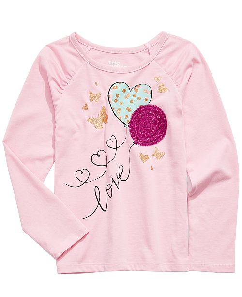 Epic Threads Little Girls Butterfly Balloon T-Shirt, Created For Macy's