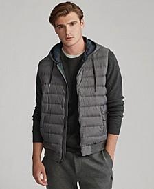 폴로 랄프로렌 Polo Ralph Lauren Mens Double-Knit Hooded Vest,Herringbone Grey Multi