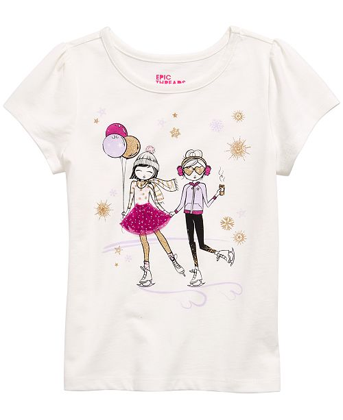 Epic Threads Little Girls Skating Girls T-Shirt, Created For Macy's