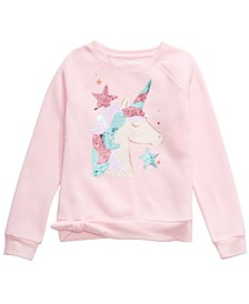 Big Girls Sequined Unicorn Sweatshirt, Created For Macy's