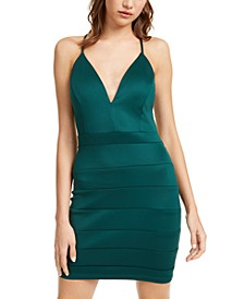 Juniors' Lace-Racerback Bandage Dress