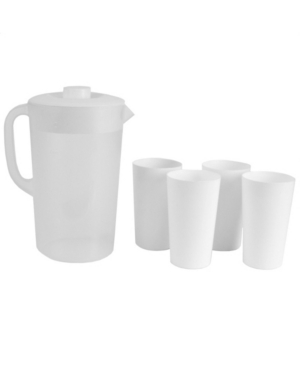 Hds Trading Classic Pitcher with 4 Tumblers