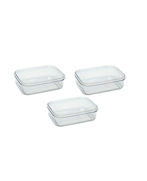 Lustroware Food Storage Containers, 1 qt - Set of 3