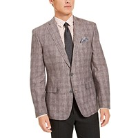 Deals on Bar III Mens Slim-Fit Plaid Sport Coat