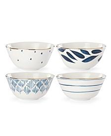Blue Bay Set/4  Assorted Dessert/Sorbet Bowls