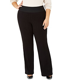 Plus Size Wide Leg Pull-On Pants, Created For Macy's