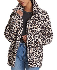 Cozy Days Animal-Print Polar Fleece Jacket