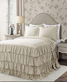 Allison Ruffle 3-Piece Full Bedspread Set