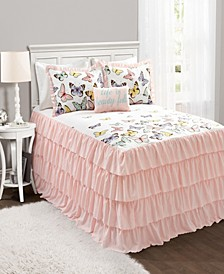 Flutter Butterfly 4-Piece Full Bedspread Set