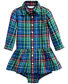 Baby Girls Plaid Dress & Bloomer
