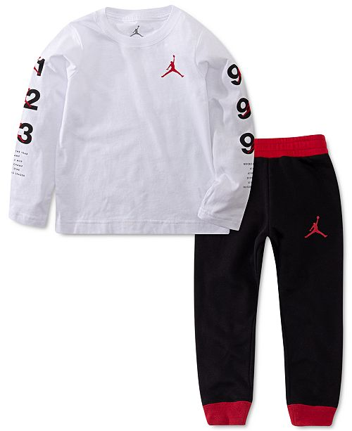 Jordan Baby Boys 2-Pc. Jumpman-Print T-Shirt & Jogger Pants Set