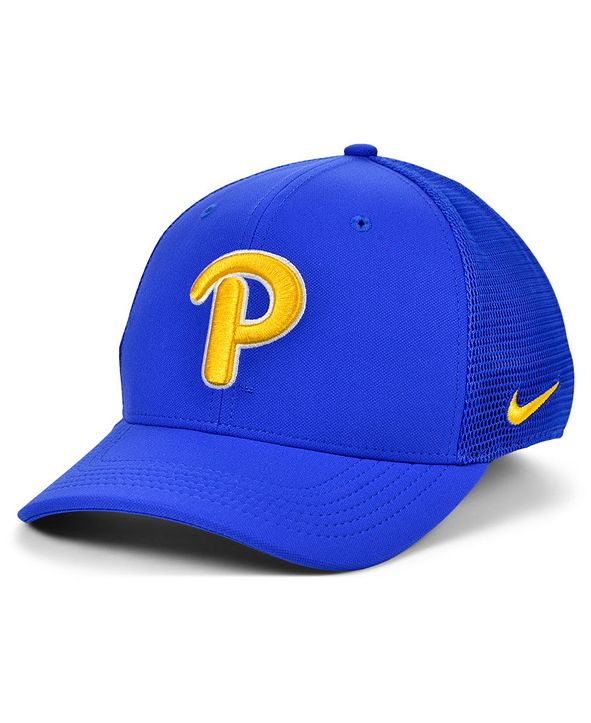 Nike Pittsburgh Panthers Aerobill Mesh Stretch Fitted Cap