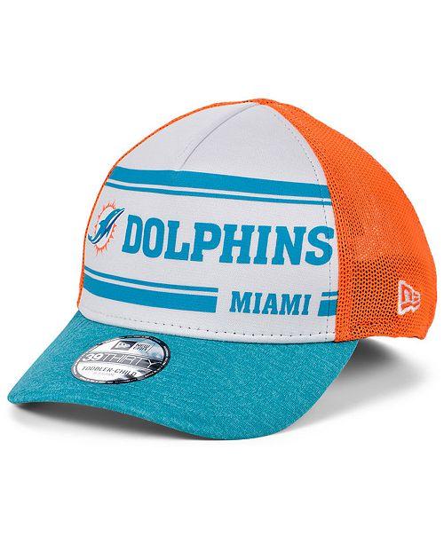 New Era Boys' Miami Dolphins On-Field Sideline Home 39THIRTY Cap