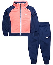 Baby Girls 2-Pc. Colorblocked Zip Jacket & Jogger Pants Set