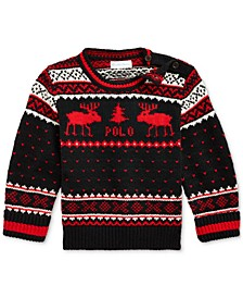 Baby Boys Reindeer Wool-Blend Sweater