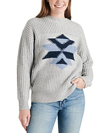 Intarsia Graphic Sweater