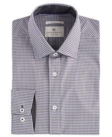 Con.Struct Men's Slim-Fit Geo Check Cooling Comfort Dress Shirt