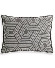 CLOSEOUT! Textured Hexagon King Sham, Created for Macy's