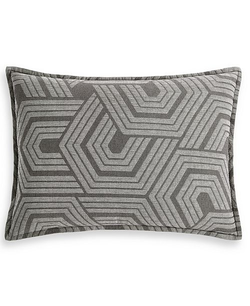 Hotel Collection Textured Hexagon Standard Sham, Created for Macy's
