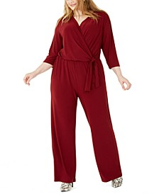 Plus Size Side-Tie Jumpsuit