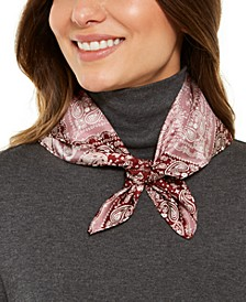 Patched Bandana Silk Square Scarf