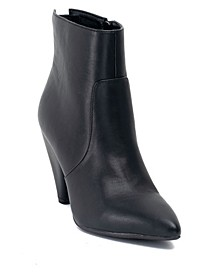 Dion Cone Heeled Back Zipper Bootie