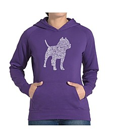 Women's Word Art Hooded Sweatshirt -Pitbull