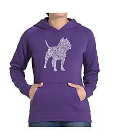Women's Word Art Hooded Sweatshirt -Pitbull