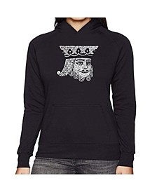 Women's Word Art Hooded Sweatshirt - King Of Spades