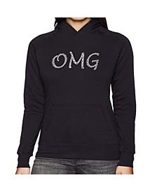 Women's Word Art Hooded Sweatshirt -Omg