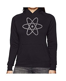 Women's Word Art Hooded Sweatshirt -Atom