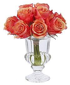 Winward International Rose in Crystal Glass