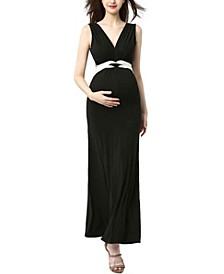 Scarlett Maternity Nursing Colorblock Maxi Dress