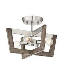 Designers Fountain Westend 4 Light Semi-Flushmount