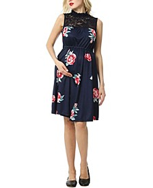 Cindy Maternity Floral Baby-Doll Dress