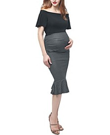 Irena Maternity Mermaid Midi Dress