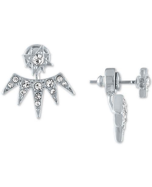RACHEL Rachel Roy Silver-Tone Crystal Starburst Floater Earrings