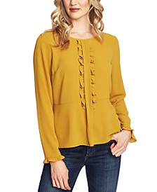 Ruffled Long-Sleeve Top