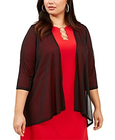 Plus Size Open-Front Shrug