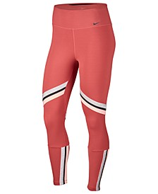 Women's One Icon Clash Dri-FIT Metallic-Stripe Leggings