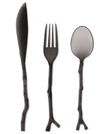 MADHOUSE by Michael Aram Black Twig 12-Piece Flatware Set